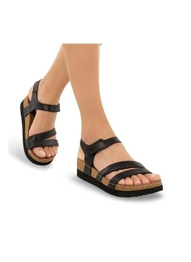 Muya Rian Anatomik Kadın Sandalet Siyah